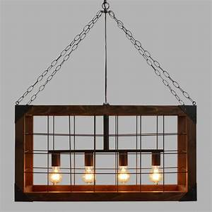 Chandelier marvellous rectangular shade