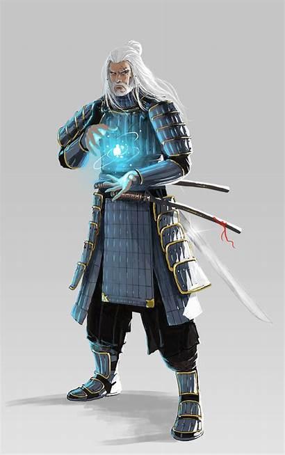 Samurai Wizard Character Portraits Concept Characters Superhero