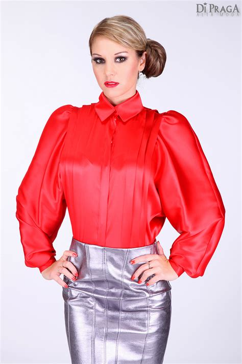 di moda alta moda di praga satin blouse s blouses