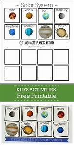 Planets Free Printable ( Solar System Cut and Paste ...