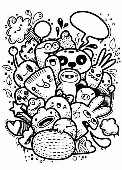 Doodle Crazy Monster Drawing Drawn Doodles Hipster
