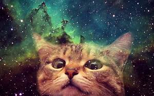 Free Space Cat Background « Long Wallpapers