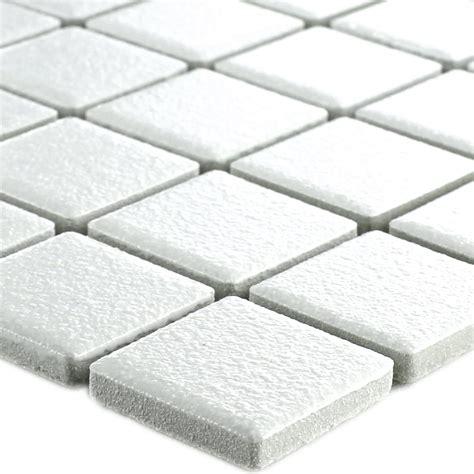 ceramic mosaic tiles white non slip uni tm33250m