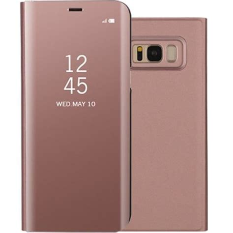 Harga Samsung S8 Pink Gold clear view standing cover for samsung galaxy s8 plus