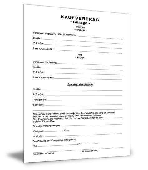 Kaufvertrag Garage Auf Pachtgrundstück by Kaufvertrag Garage