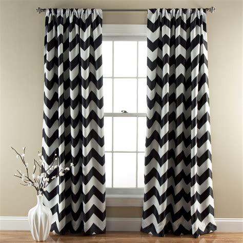 Lush Decor Blackout Curtains by Lush Decor C21 Chevron Blackout Window Curtain Set Of 2