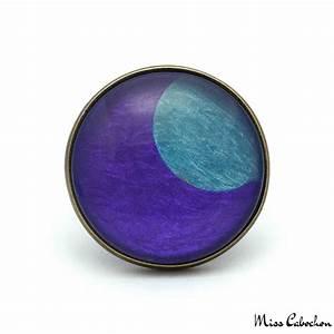 bague fantaisie lune bleue sur fond violet bijou n197 With bagues fantaisies