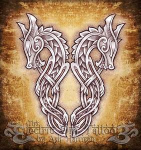 Celtic Knotwork Dragons by VillKat-Arts on DeviantArt