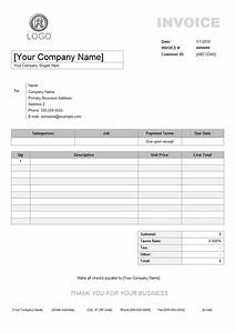 service invoice example With specimen of invoice