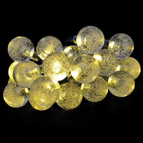 Cheap 20 Leds Crystal Ball Solar Powered Led String Lights