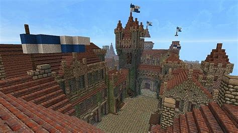 Old Fortified Castle Town Minecraft Project