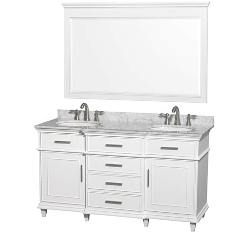 60 inch double sink vanity top ackley 60 inch white finish double sink bathroom vanity