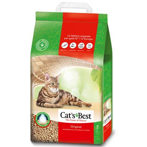cat s best öko plus katzenstreu lettiera biodegradabile per gatti cat s best okoplus vegetale arcaplanet