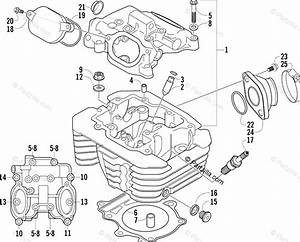 Arctic Cat Atv 2004 Oem Parts Diagram For Cylinder Head