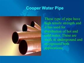 Types Of Water Pipes Photo Gallery by Different Types Of Water Pipes And Their Uses