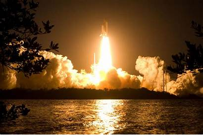 Nasa Shuttle Night Florida Launch Space Discovery