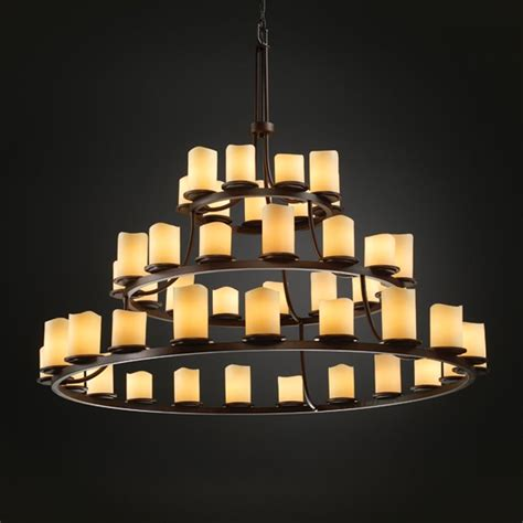 Justice Design Chandeliers by Justice Design Candlearia Collection Chandelier