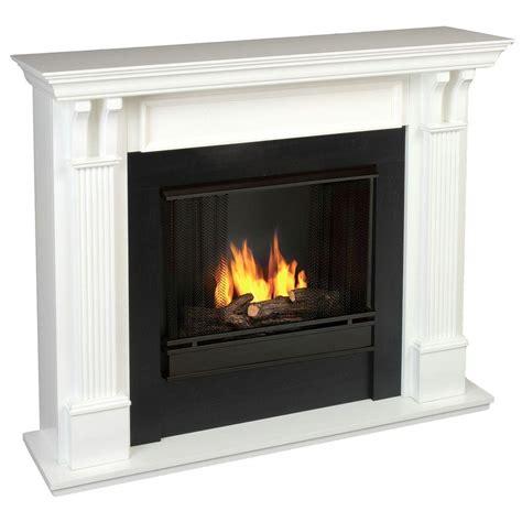 gel fuel fireplace real 48 in gel fuel fireplace in white 7100