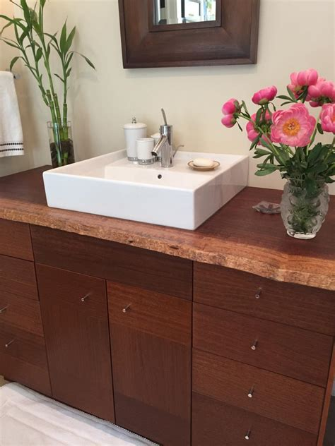 cheap ways  freshen   bathroom countertop hgtv