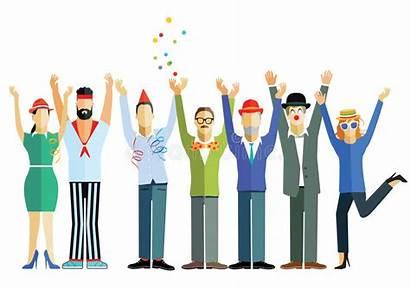Celebrating Celebration Waving Hands Illustration Air Vector