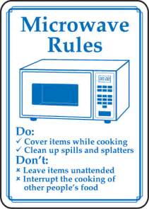 image gallery microwave sign
