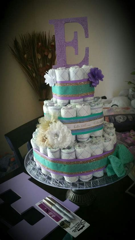 Purple And Teal Baby Shower Decorations by Cake Purple And Teal And Gold Beautiful Baby