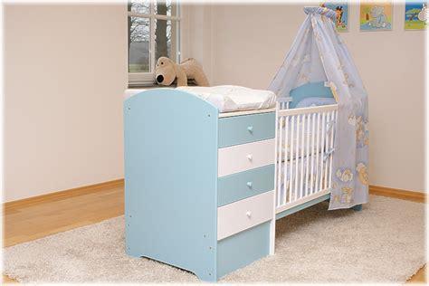 babybett komplett mit wickelkommode himmelblaues babybett mit wickelkommode babybett kinderbett komplettset neu ebay