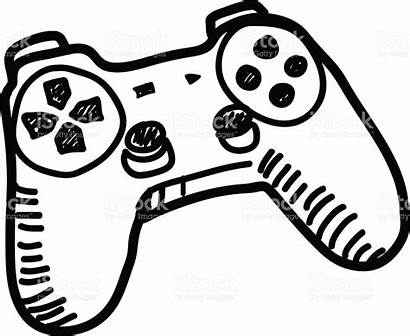 Controller Clipart Games Drawing Doodle Vector Xbox