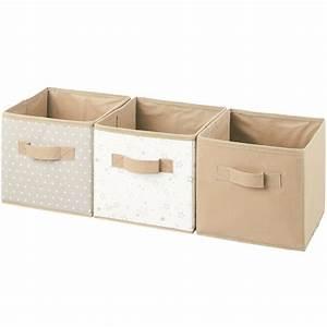 Boite Rangement Bebe : 3 boites de rangement cube tissu avec poignets ebay ~ Teatrodelosmanantiales.com Idées de Décoration