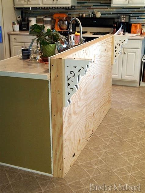 Kitchen Counter Add On by Diy Corbels For A Breakfast Bar Trim D 233 Co Maison