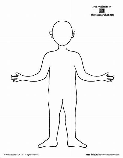 Outline Template Printable Human Person Boy Printables