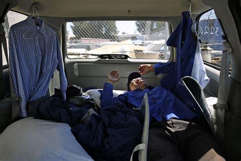 tech bus drivers forced    cars   ends meet