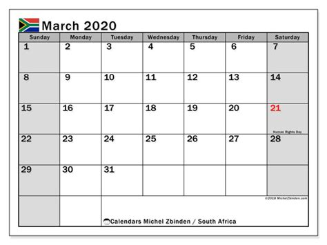 march calendar south africa michel zbinden