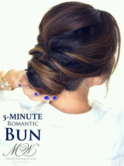 hair buns styles for medium hair 55 easy updos to look effortlessly chic 5313