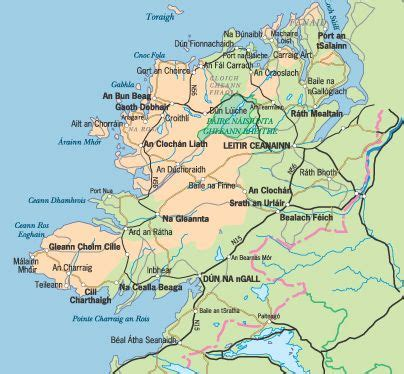 map  county donegal irelands  northwesterly county