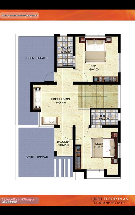 kerala villa plan  sq ft architecture house plans