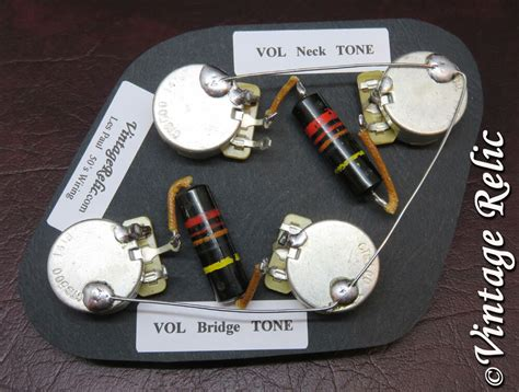 Best Gibson Sg Wiring Harnes by Upgrade Wiring Kit Vintage 1950s Bumblebee Caps Cts Fit