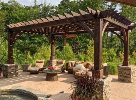 Pergola Im Garten Vereinbart ästhetische Und Praktische