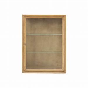 Vitrine Murale Verre : vitrine murale bois de chene et verre house doctor madi ae0310 ~ Teatrodelosmanantiales.com Idées de Décoration