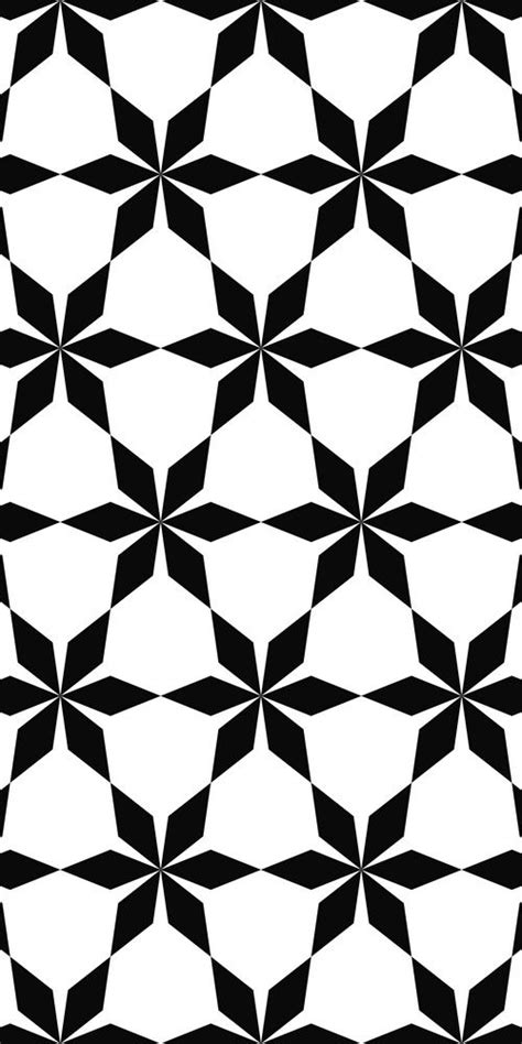 Abstract Geometric Shapes Black And White by Seamless Black And White Hexagonal Abstract Geometric