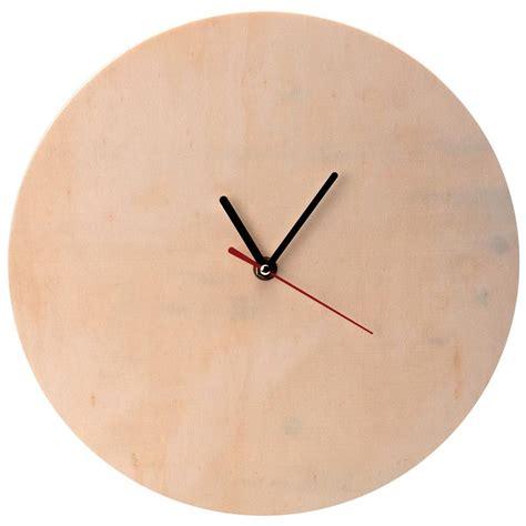 element cuisine pas cher horloge en bois à décorer ronde 30 cm horloge à décorer