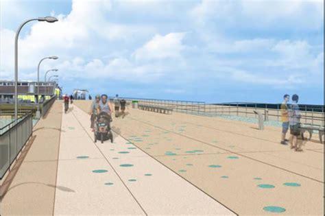 renderings show  rockaway beach boardwalk