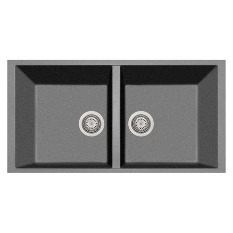 kitchen sink titanium latoscana elegance undermount granite composite 22 in 2939