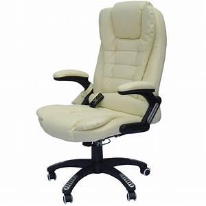 Fauteille De Bureau : fauteuil de bureau massant novito creme ~ Teatrodelosmanantiales.com Idées de Décoration