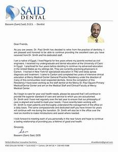 patient welcome letter canton oh bassem s said dds With new dentist introduction letter to patients