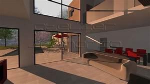Maison Contemporaine De 208 M2 En Forme De Cocon Avec