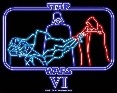 Neon Films Wars Star Signs Digital Designstack