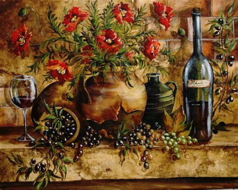 Tuscan Wall Decor For Kitchen by Tre Sorelle For Home Decor