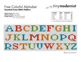 Free Alphabet Cross Stitch Pattern