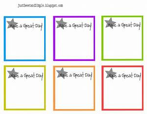 just Sweet and Simple: Little Lunch Notes & Reminder Notes